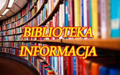 Biblioteka szkolna – informacja.