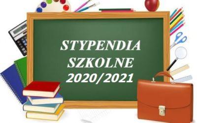 Stypendium szkolne 2020/2021 – Informacja